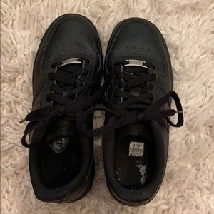 Nike Shoes - Black Air Force 1s